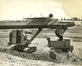 Excavation of earth near Empire Stadium