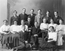 [Unidentified group of young women and men]