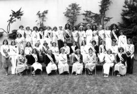 Group portrait of Miss P.N.E. contestants