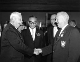 1965 Derby Day : [Lieutenant Governor G.R. Pearkes, J. Diamond, W.A. Randall, and P.N.E. Presiden...