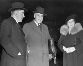 Honorable J.L. Ralston, Minister of National Defence who returned to Canada with Honorable C.D. H...