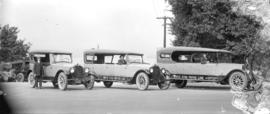 [White Star Motor Line Cars and drivers]
