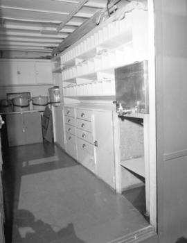 Red Cross mobile canteen [interior]