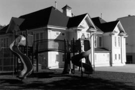 Kitchener School, original building and playground