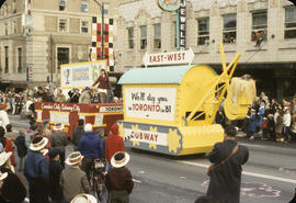 48th Grey Cup Parade, on Georgia and Howe, Canadian National Exhibition float