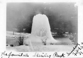 The fountain, Stanley Park, Sunday, February 3, [19]29