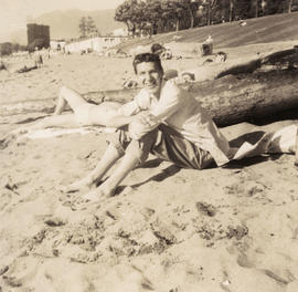 Unidentified man at beach