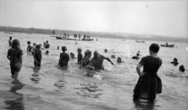 Joe Fortes [teaching swimming at] English Bay