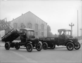 """Federal"" trucks [Department of Public Works, B.C.]"