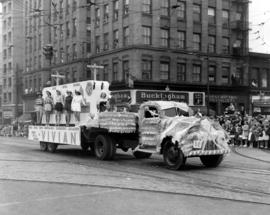Vivian float in 1949 P.N.E. Opening Day Parade