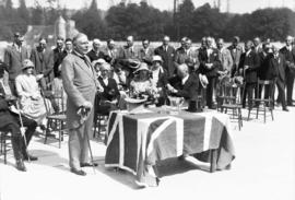 Exhibition opening, Lieutenant Governor Robert Randolph Bruce, Hastings Park