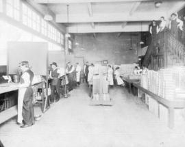 [Interior of the Stettler Cigar Factory at 418 West Georgia Street]