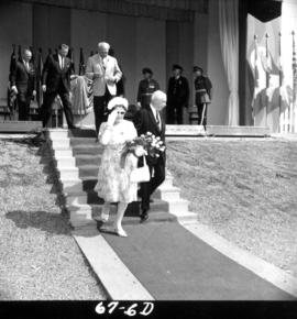 Lieutenant Governor G.R. Pearkes at 1967 P.N.E. opening ceremonies