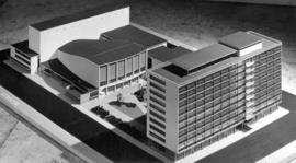 [Model of proposed civic auditorium]