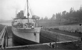 "[The ""Empress of Canada"" in drydock]"