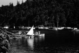 [Boats in the harbour at Bowen Island]