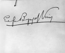 [Byng of Vimy autograph]