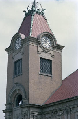 Heritage Hall clock tower at 3102 Main Street