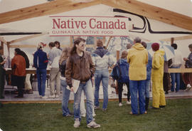 Native Canada Quinkatla Native Food stand at Food Fair during the Centennial Commission's Ca...