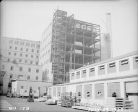 Construction of pan house: exterior view from southwest