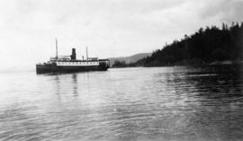 "S.S. ""Cowichan"" leaving Buccaneer Bay"
