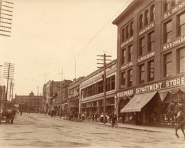 [View of the north side of the 100 Block of West Hastings Street]