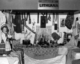 Display of goods from Lithuania