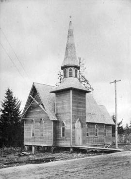 [Exterior of St. John the Divine Anglican Church on Westminster Road at Central Park]