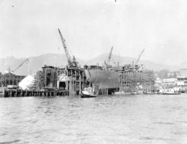 [View of North Van Ship Repairs (Pacific Drydock) Limited from the water]