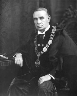 [His Worship G.G. McGeer in his regalia]