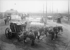 [Labour Day Parade: Street Cleaning Dept. 1914 Ten Years Progress]