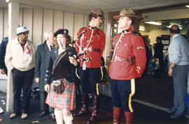 Bagpiper and Mounties at Canada Day Festival