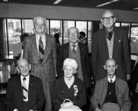 Incorporation Day celebration, group of six pioneers
