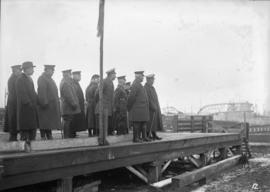 29th Battalion [Officers on a platform]