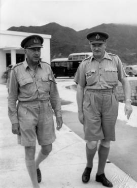 Canadian Liaison Mission to Japan, General Crerar and Commonwealth military official