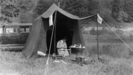 [Beatrice Timmins at] our camp, Yale