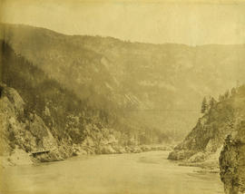 Wagon Road looking down [Fraser River]