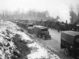 [A supply train arrives at the Western Front]
