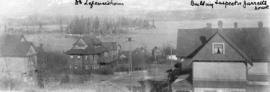 [View of Deadman's Island from E.B. Hermon's residence at 1287 Robson Street]
