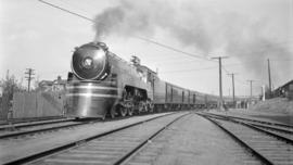 "C.P.R. Steam, Pass. Eng. #3001 [Class F2A, ""Jubilee""] Streamline Train"