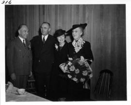 V.E.A. President J. Dunsmuir and others at formal tea