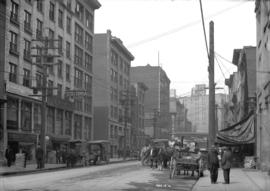 [View of the 100 block of Water Street, looking west]