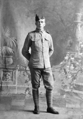 [Mr. S.J. Perry in uniform prior to departure for South Africa]