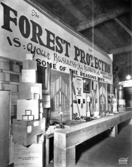Canadian Forestry Association display of wooden products