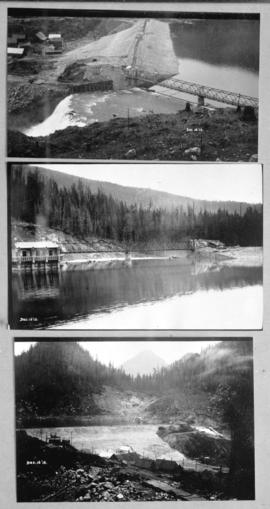 [Three views of completed Coquitlam Dam]