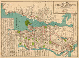 Dial map of Greater Vancouver and suburbs