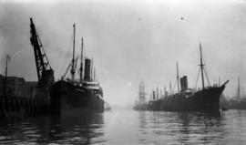 [Hydaspes and another ship at docks in] Clyde