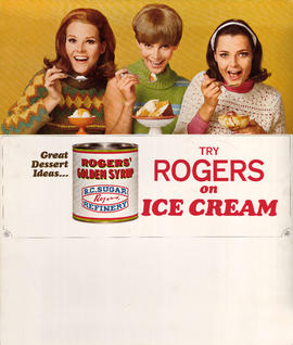 Great dessert ideas? Try Rogers on ice cream