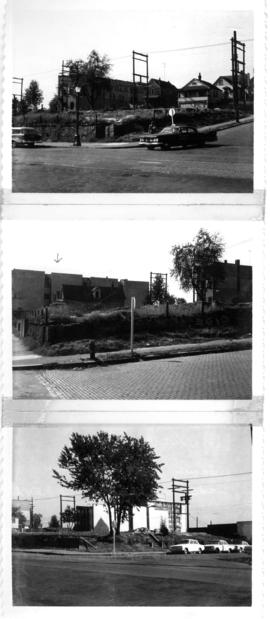 Group of three photos; Looking north west from Georgia and Jackson; west from Georgia & Jacks...