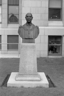 Mayor G. G. McGeer memorial bust - front